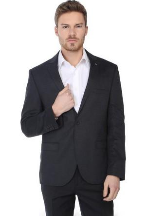 Comienzo Erkek Oxford 2 Düğmeli Klasik Tek Yırtmaçlı Ceket