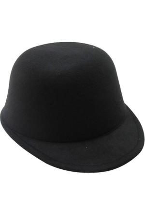 Laslusa İçten Ayarlanabilir Düz Jokey Keçe Şapka