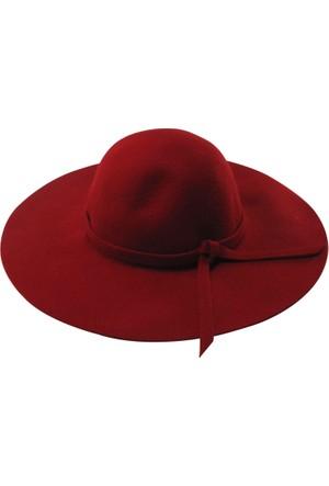 Laslusa İçten Ayarlanabilir Yün Geniş Kenar Şapka