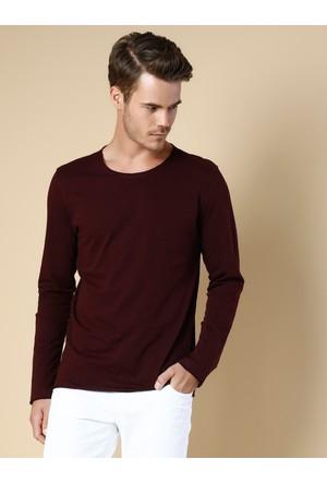 Colin's Bordo Erkek T-Shirt Uzun Kol