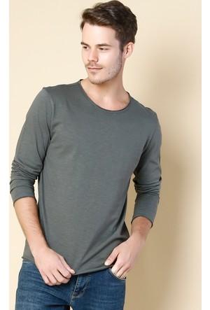 Colin's Haki Erkek T-Shirt Uzun Kol