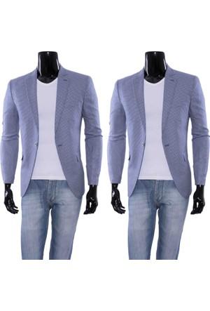 GiyimGiyim Piti Kare Dar Kesim Blazer Tek Ceket