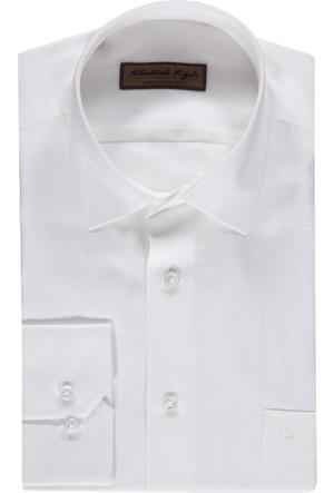 Kiğılı Uzun Kol Keten Gömlek