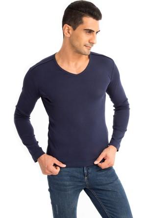Kiğılı V Yaka Slim Fit Sweatshirt