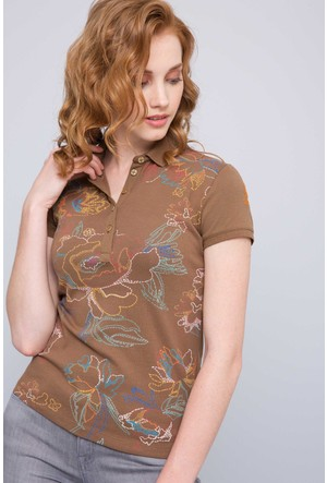 U.S. Polo Assn. Kadın Hello T-Shirt Yeşil