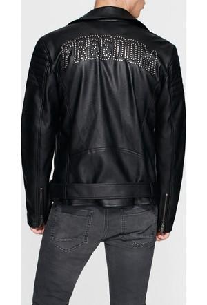 Mavi Freedom Zımbalı Biker Ceket