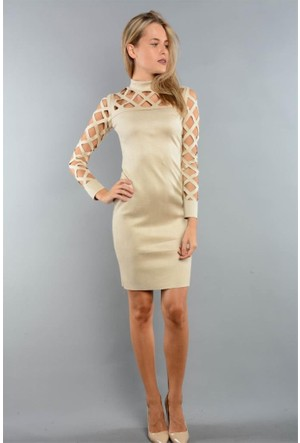 Espenica Kısa Lazerli Elbise Pery 3650