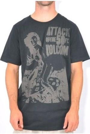Volcom Attack Of 50Th Ss Blk Erkek T-Shirt