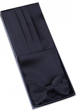 La Pescara Siyah Papyon Kuşak - Smokin Kemeri