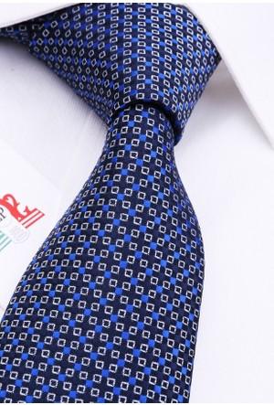 La Pescara Lacivert Küçük Desen Klasik Kravat Pk3123