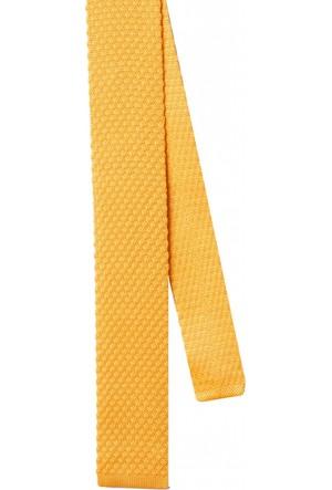 La Pescara Sarı Düz Örgü Kravat 8043