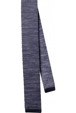 La Pescara Düz Örgü Siyah Kravat 8046
