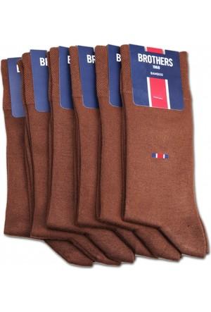 Brothers Brothers 6'lı Taba Kokulu Bambu Erkek Çorap CRP10