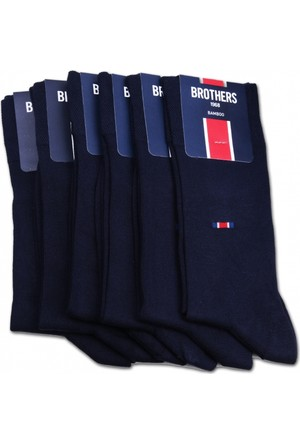Brothers Brothers 6'lı Lacivert Kokulu Bambu Erkek Çorap CRP12