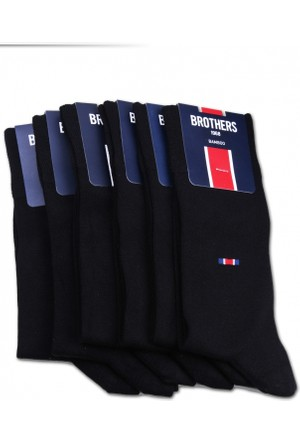 Brothers Brothers 6'lı Siyah Kokulu Bambu Erkek Çorap CRP14