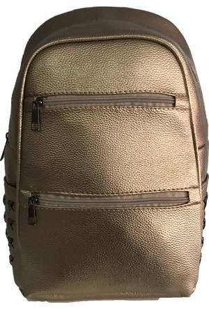 Çanta Stilim Deri Gold 3084-G Kadın Sırt Çantası