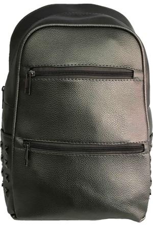 Çanta Stilim Deri Gri 3084-GR Kadın Sırt Çantası