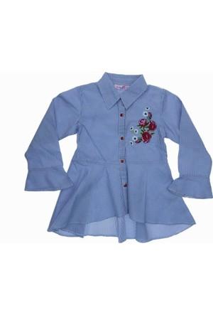 Asilgüç Kız Çocuk Volamlı Gömlek