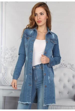 E-Giyimsepeti Yeni Model Bayan Kot Tunik Ceket
