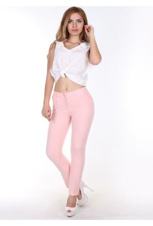 E-Giyimsepeti E Giyim Sepeti Bilek Boy Bayan Kumaş Pantolon Pembe