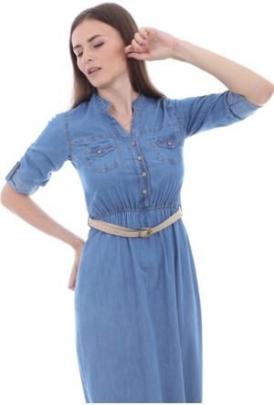 E-Giyimsepeti Büyük Beden Bayan Kot Elbise