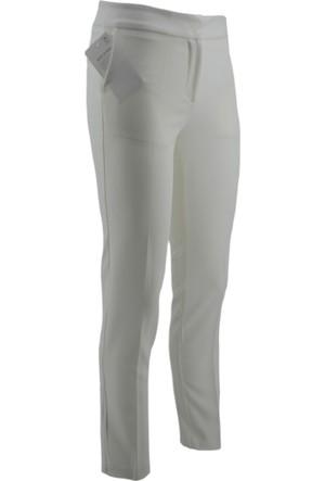 E-Giyimsepeti Ekru Bilek Boy Kumaş Pantolon