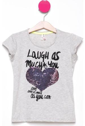DeFacto Çift Taraflı Payet İşlemeli Kız Çocuk T-Shirt
