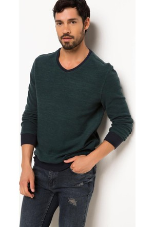 DeFacto V Yaka Sweatshirt