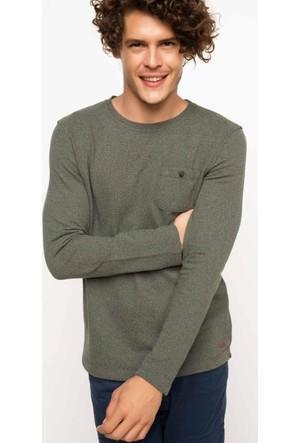 DeFacto Uzun Kollu Kırçıllı Sweatshirt