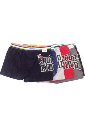 Koza Erkek Çocuk Renkli Desenli Boxer 6'lı Paket