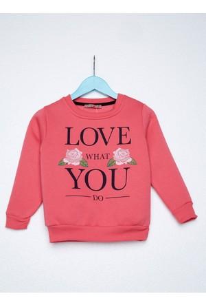 FullaModa 18KAKKU0071 Kız Çocuk Baskılı Sweatshirt