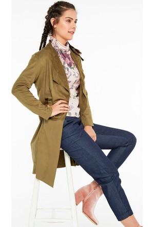 FullaModa 18KCSCD0003 Kadın Süet Ceket