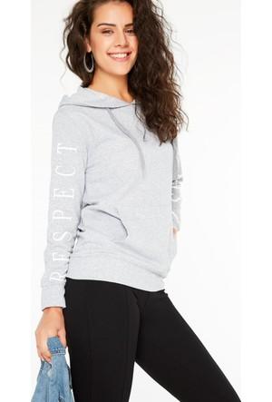 FullaModa 18KALAT0016 Kadın Baskılı Sweatshirt