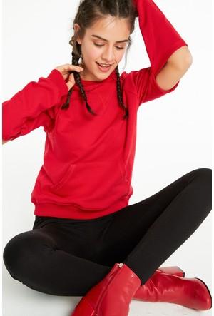 FullaModa 18KAKYÜZ0024 Kadın Kapüşonlu Sweatshirt