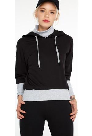 FullaModa 18KALAT0015 Kadın Kapüşonlu Sweatshirt