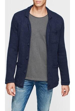 Mavi Erkek Triko Ceket