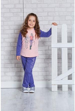 U.S. Polo Assn. Lisanslı Kız Çocuk Pijama Takımı-US-158