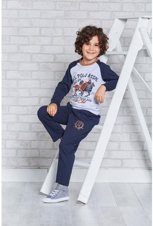 U.S. Polo Assn. Lisanslı Erkek Çocuk Pijama Takımı-US-122