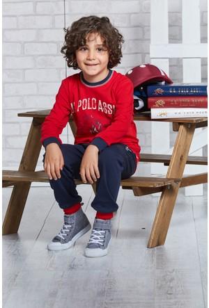 U.S. Polo Assn. Lisanslı Erkek Çocuk Pijama Takımı-US-112