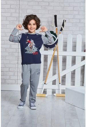 U.S. Polo Assn. Lisanslı Erkek Çocuk Pijama Takımı-US-108