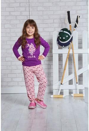 U.S. Polo Assn. Lisanslı Kız Çocuk Pijama Takımı-US-150