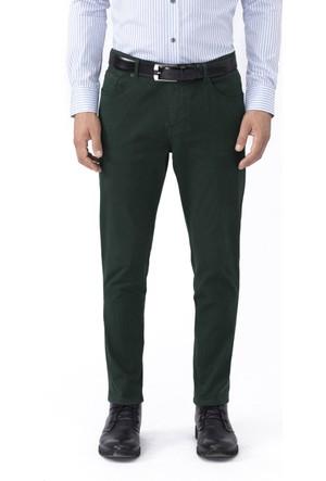 Hemington Kadife Dokulu Koyu Yeşil Slim Fit Kanvas Pantolon