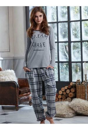 Penye Mood 8203 Kışlık Kadın Pijama Takımı