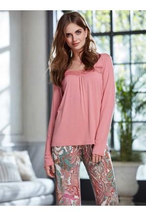 Penye Mood 8217 Kışlık Kadın Pijama Takımı