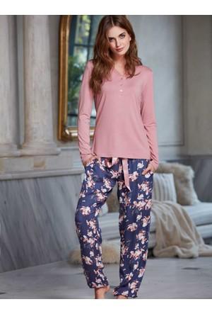 Penye Mood 8224 Kışlık Kadın Pijama Takımı