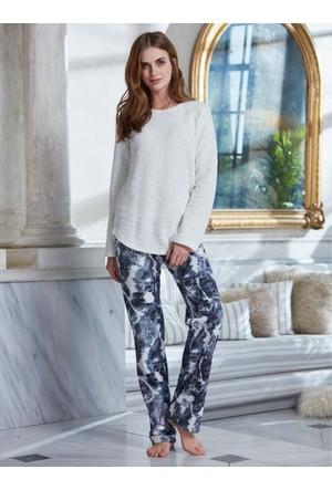 Penye Mood 8239 Kışlık Kadın Pijama Takımı