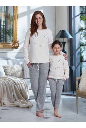 Penye Mood 8246 Kışlık Kadın Pijama Takımı