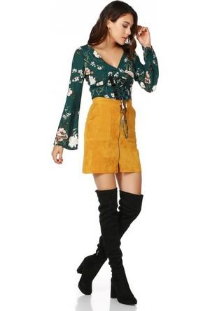 Bsl Fashion Hardal Etek 9555