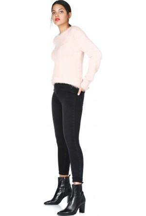 Bsl Fashion Somon Yün Triko Kazak 9581
