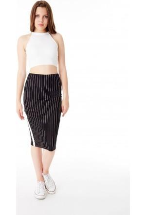 Bsl Fashion Siyah Etek 9352